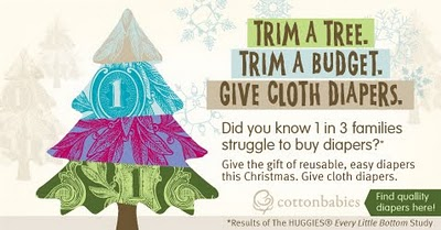 Trim a tree. Trim a budget. Give cloth diapers!
