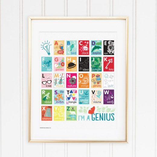 Genius Series Art Print - Alphabet Poster