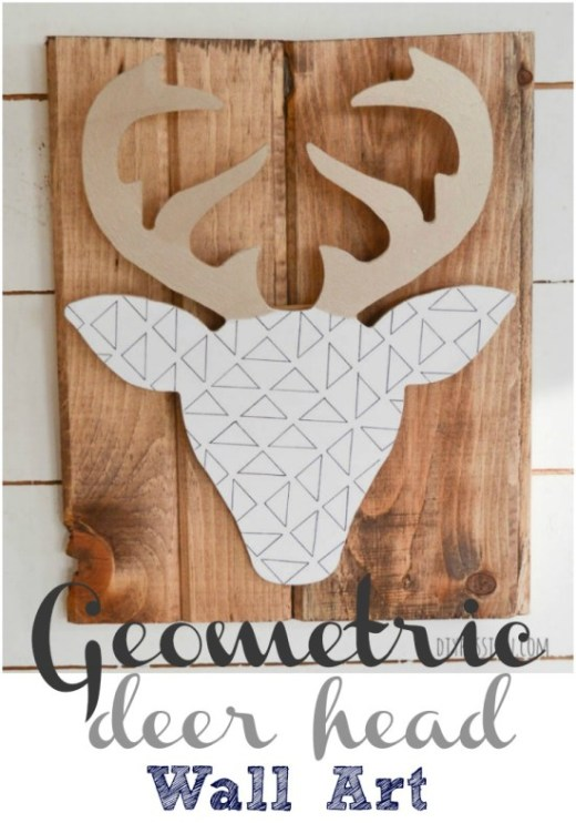 Geometric Deer Head Wall Art