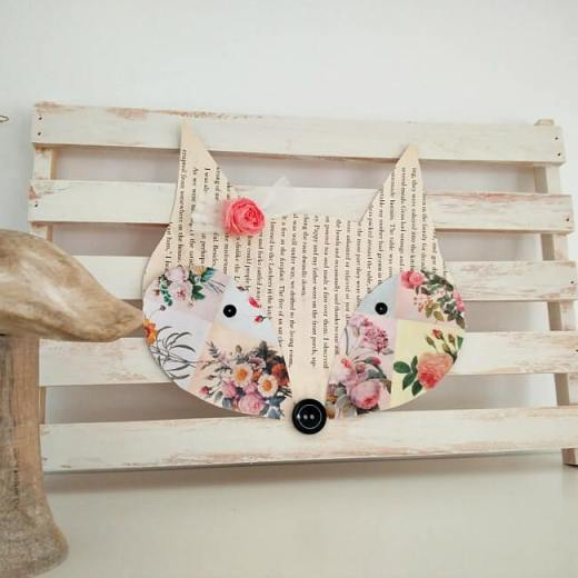 Rustic Girly DIY Fox Wall Art