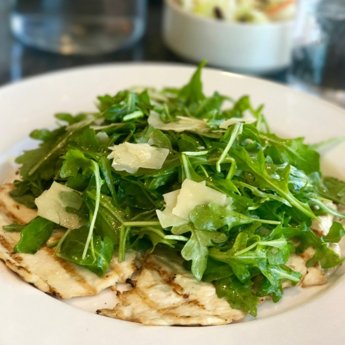 Chicken Paillard Arugula Truffle Salad