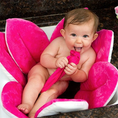 Blooming Baby Bath in Pink - one of our must-have baby registry items.