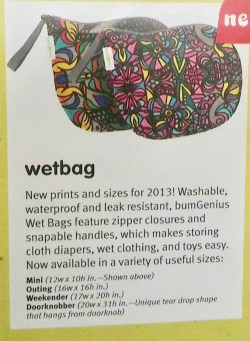 Wet Bags in Catalog