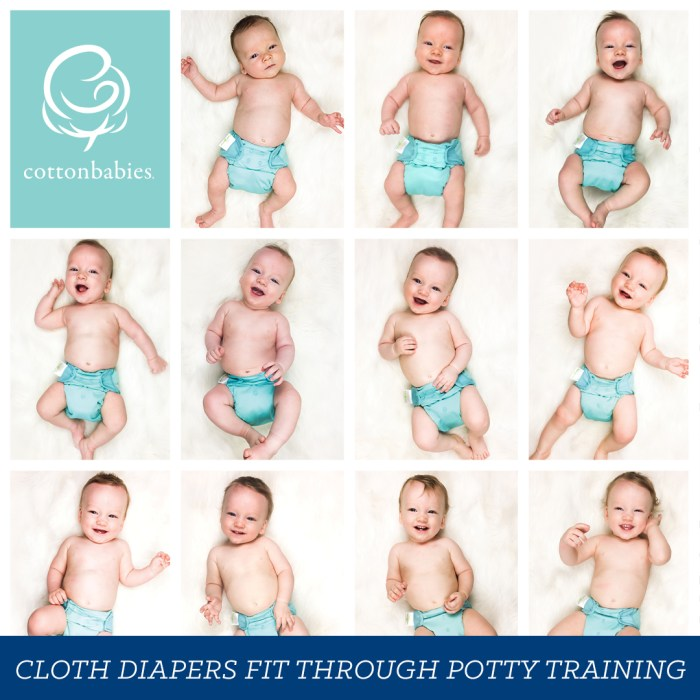 Love cloth diapers from birth - potty training. #cottonbabies #bumgenius
