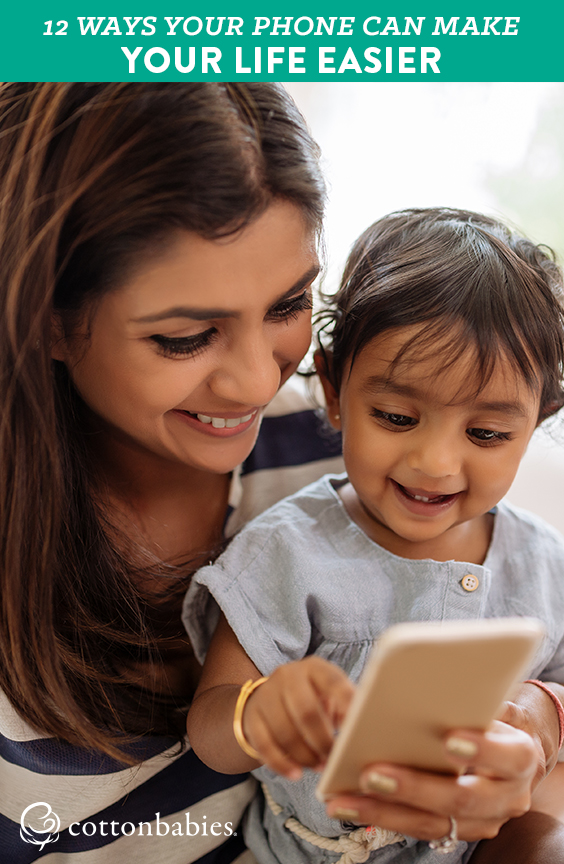 12 tips for busy moms to make life easier with a smart phone.