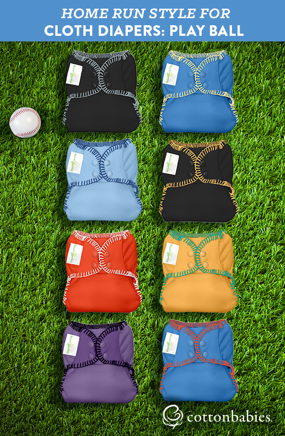 PLAYBALL with bumGenius cloth diapers in your favorite baseball team's colors.
