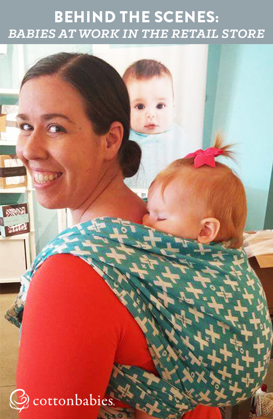 Behind the scenes: What it's really like to take a baby to work in a retail store