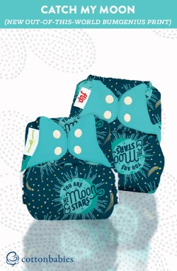 New My Moon print for cloth diapers and accessories from bumGenius. Enter for a chance to win one of your own! #bumgenius #clothdiapers