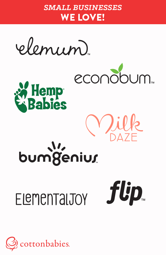 Support small business! #CottonBabies makes bumGenius, Flip, Elemental Joy, Econobum, MilkDaze, Hemp Babies and Elemum. #shopsmall
