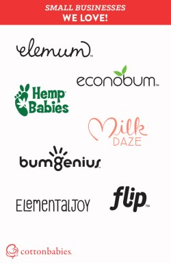 Support small business! #CottonBabies makes bumGenius, Flip, Elemental Joy, Econobum, MilkDaze, Hemp Babies and Elemum. #shopsmall