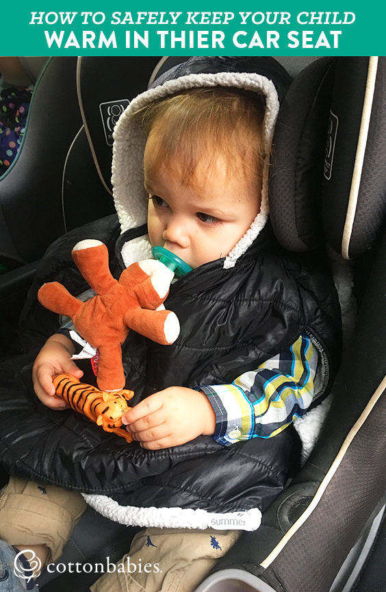 Car seat safety tips for keeping your baby warm while riding in their car seat.
