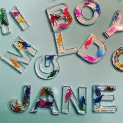 Resin craft letters