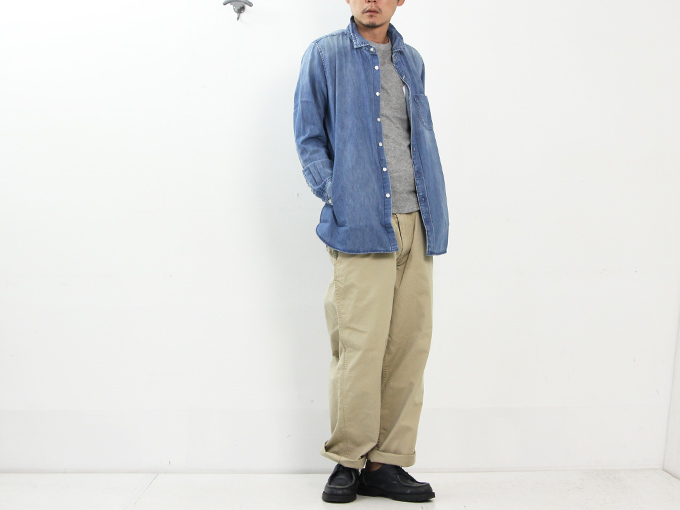 ONES STROKE(ワンズストローク) Denim Long Shirt