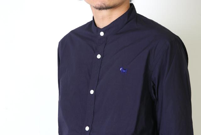 weac.(ウィーク) Cotyle別注 パグちゃんスタンドカラーシャツ