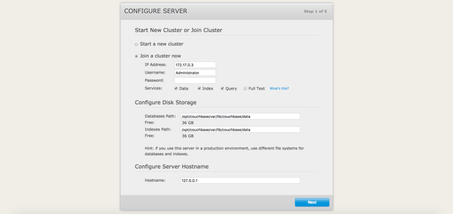 Join Couchbase Cluster