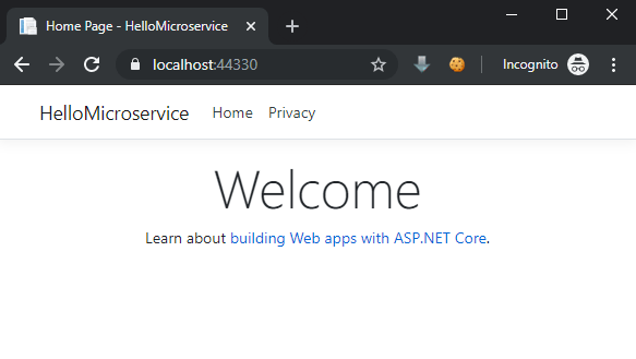 ASP.NET Welcome