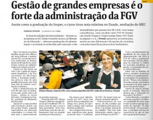 Eliana Chumer fala à Folha de São Paulo