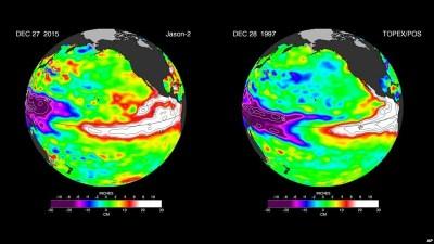 El Niño pode ter o ciclo mais forte da história em 2016