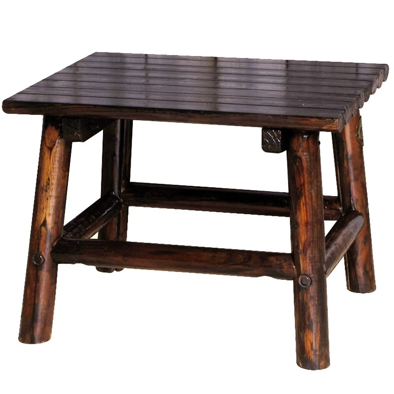 Char-Log Wooden End Table