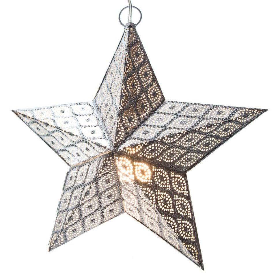 Hanging Metal Star Light