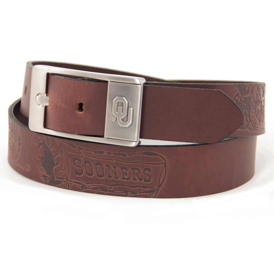 Branded Leather Belt - Oklahoma