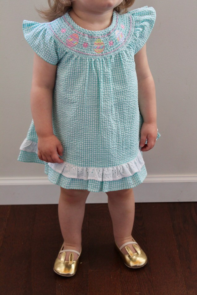 Egg Smocking Bloomer Set