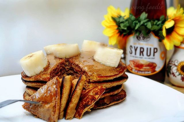 Pumpkin Pancakes and Syrup