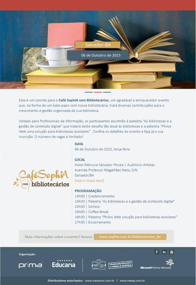 Café SophiA com Bibliotecários