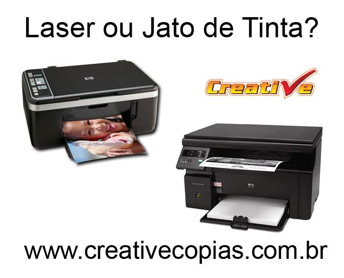Impressora a laser ou jato de tinta