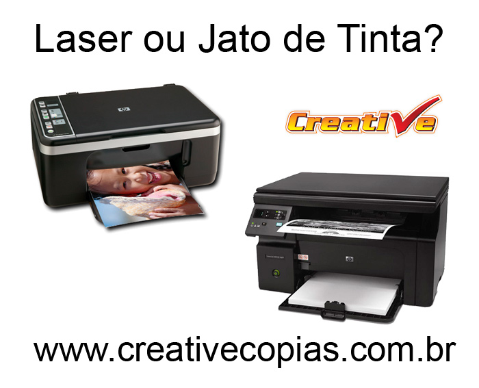 laser ou jato de tinta