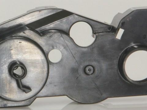 frente capa engrenagem reset toner inicial