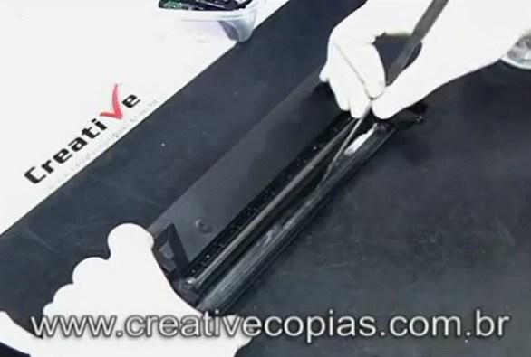 A lamina coletora do cartucho de toner Samsung D-104