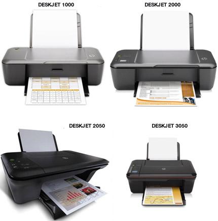 impressoras deskjet 1000,2000,2050,3050