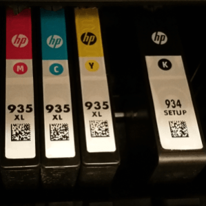 Impressoras: cartuchos CMYK
