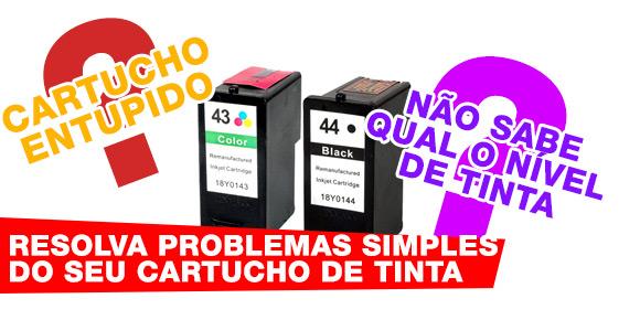 resolva problemas simples dos cartuchos de tinta