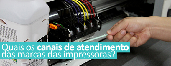 Quais os canais de atendimento das marcas das impressoras?