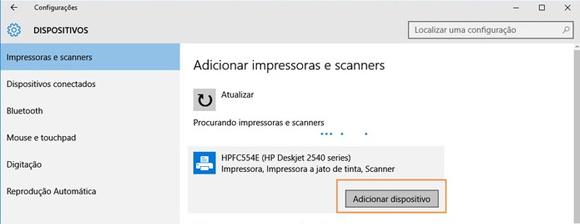 Como configurar impressora Wifi no Windows 10 - Passo 3