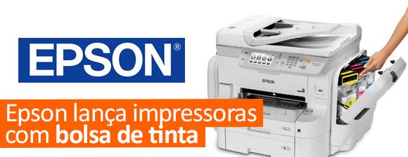Epson lança impressoras com bolsa de tinta