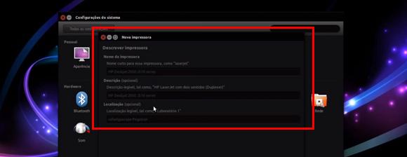 Como Instalar Impressora no Ubunto Descrever Dispositivo (Opcional)
