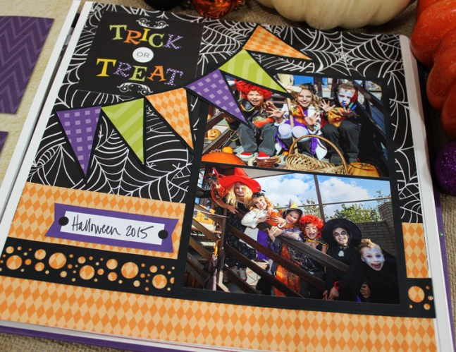 Creative Memories Trick or Treat Halloween Page Layout
