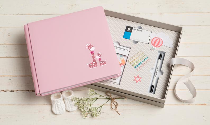 creative-memories-baby-girl-gift-box-photo-album-kit-setting