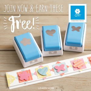 Join Creative Memories today as an Advisor and earn a Trio Mini Punch Set with your first order.