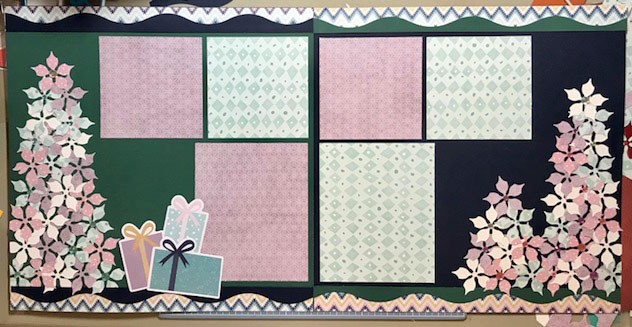 Poinsettia Punch Scrapbooking Layout by Creative Memories
