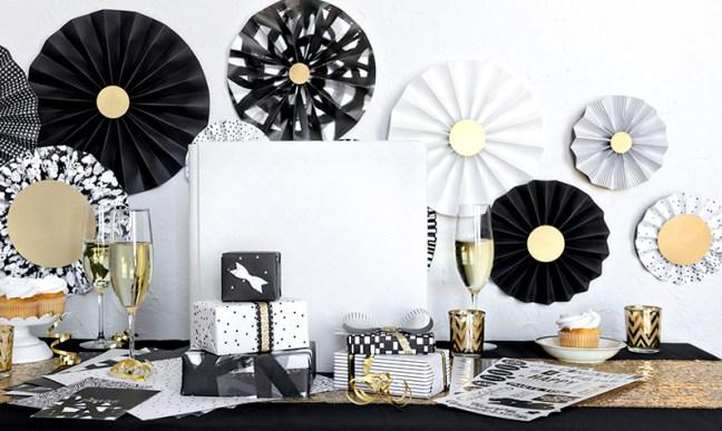 DIY-Tutorial:-How-to-Make-Black-White-Decorative-Paper-Fans-Creative-Memories