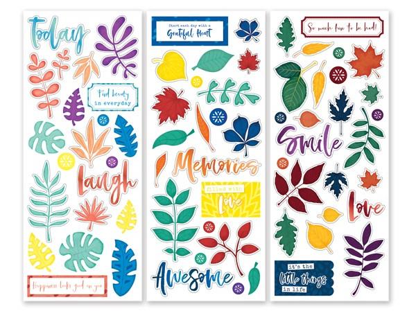 Leaf & Icon Stickers