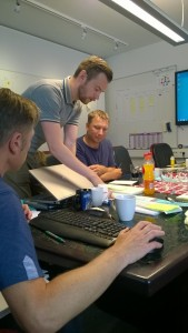 Team developing new products