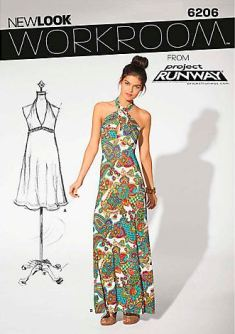 Party Dress Sewing Pattern - New Look Work Room 6206