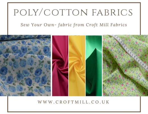 Croft Mill Poly/cotton fabrics