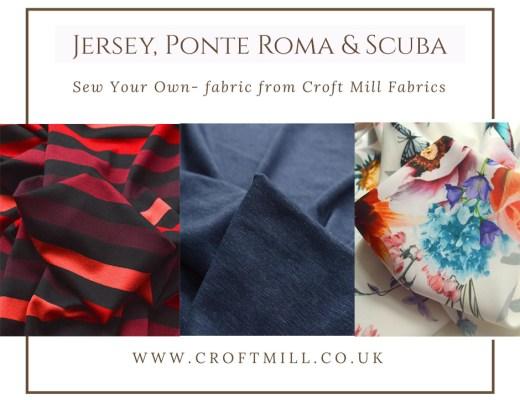 Jersery, Ponte Roma, Scuba Fabrics