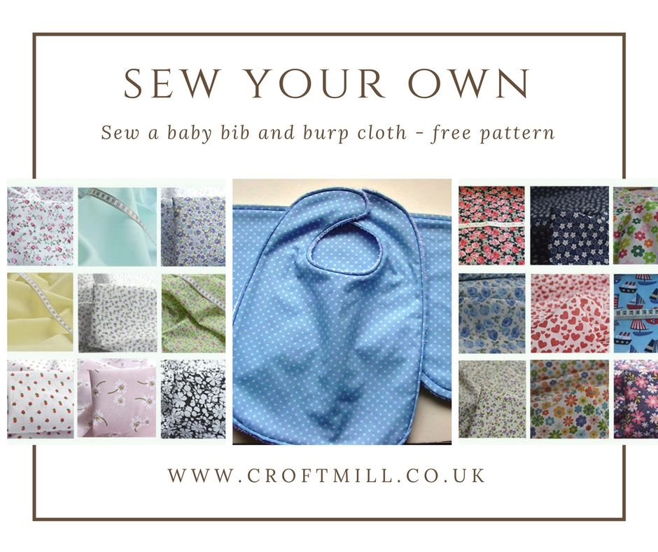 Sew Your Own A Bib And Burp Cloth For The New Baby